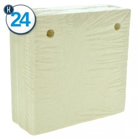 25 PCS-1,300-1,400 g/m2 FILTER PAPERS 20 x 20 -K24 2 HOLES