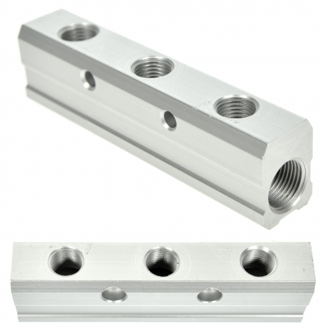 DISTRIBUTEUR PNEUMATIQUE DE 3 VOIES 3/8 X 1/4 EN ALUMINIUM