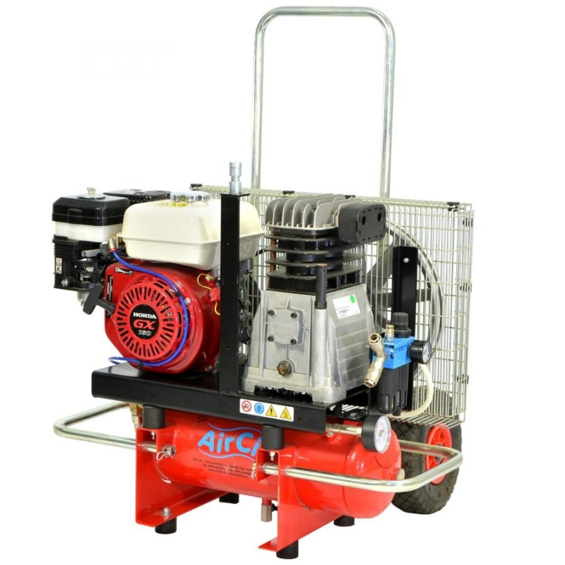 5 5 Hp Honda Gx160 Petrol Engine Compressor 10 Lt