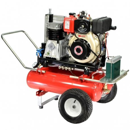 COMPRESSOR ELECTRIC START 22 + 22 LT 6.7 HP DIESEL