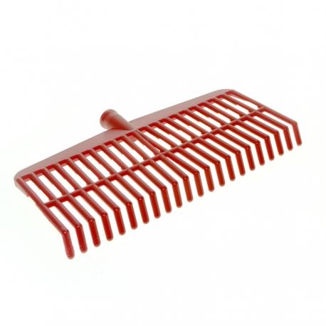 RED REINFORCED PLASTIC BROOM FOR OLIVES