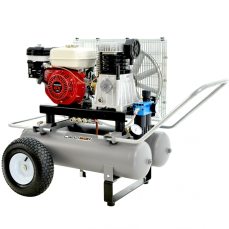 COMPRESSEUR 5,5 HP 22 + 22 LT ESSENCE HONDA GX 160